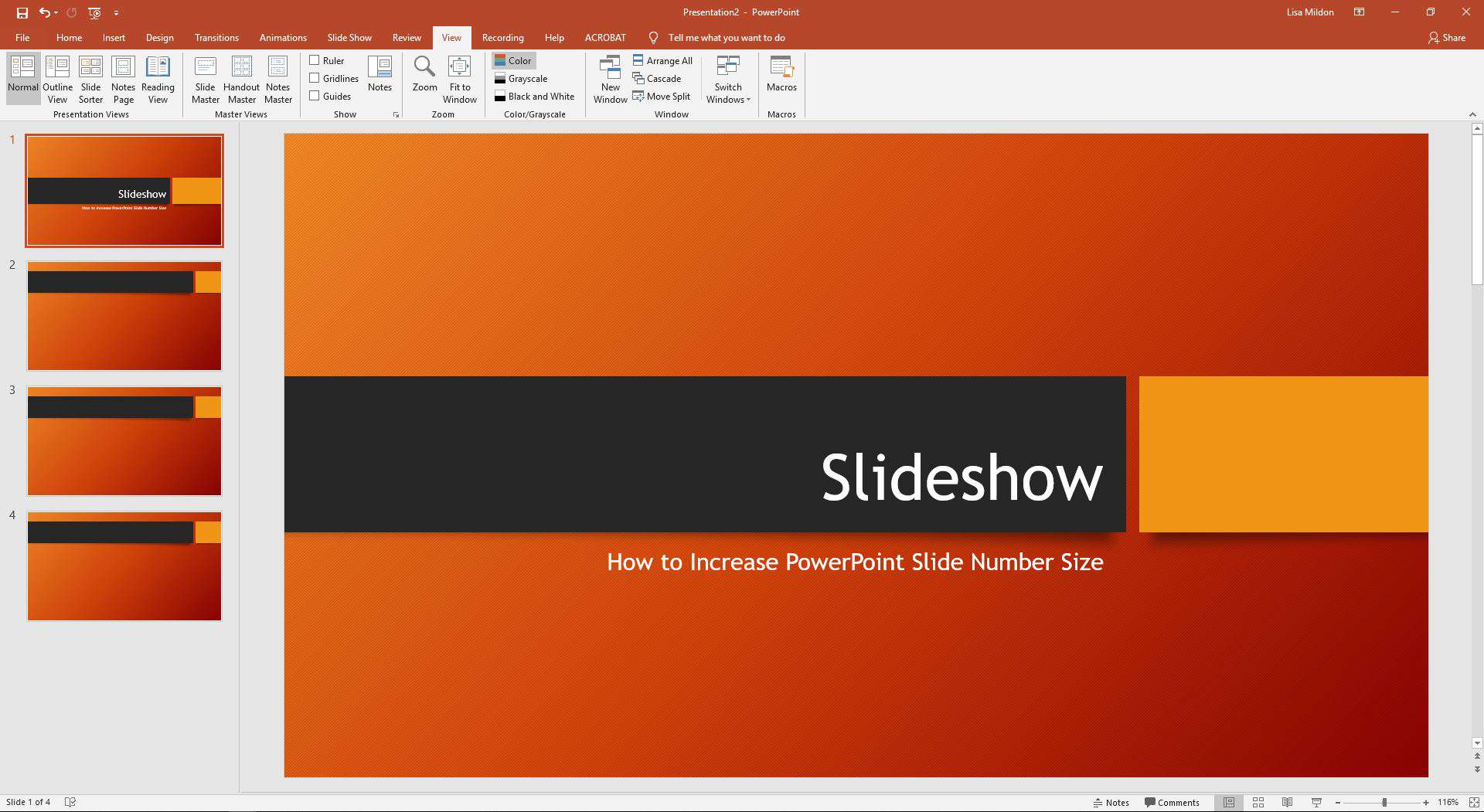 How To Increase Powerpoint Slide Number Size
