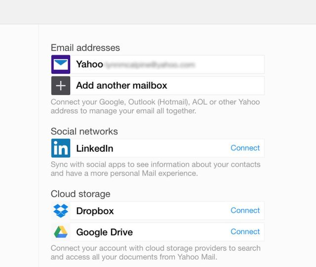 Screenshot Of The Accounts Email Address Options In Settings Of Yahoo Mail