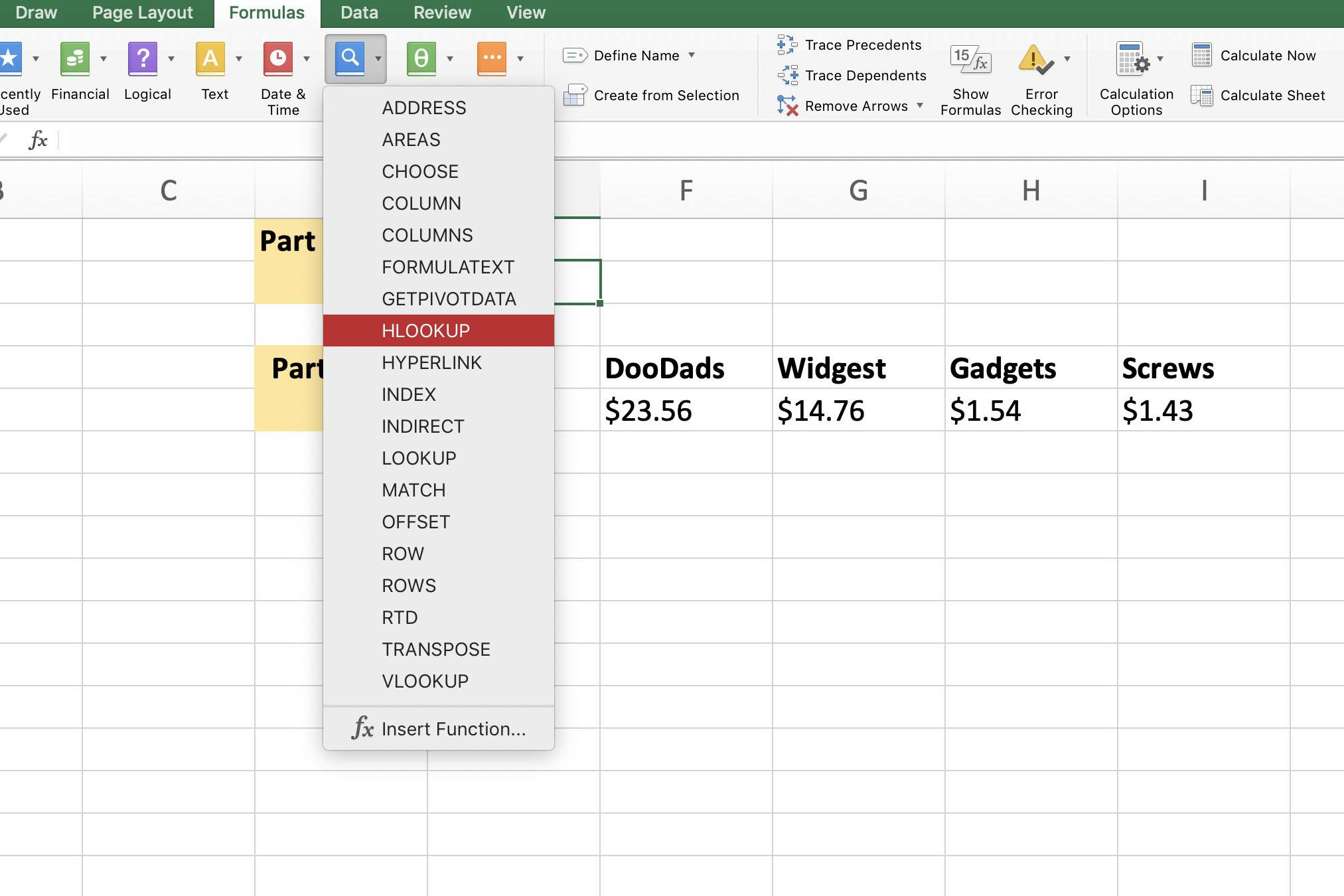 Find Specific Data With The Excel Hlookup Function