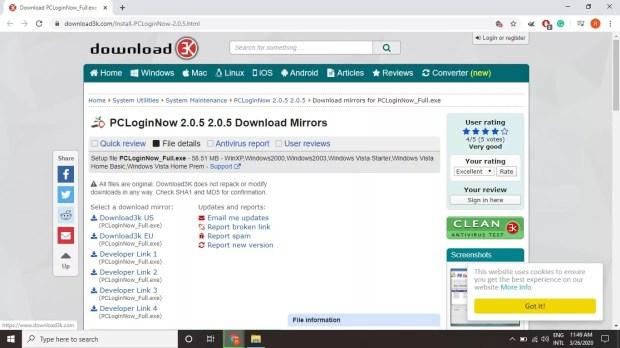 قم بتنزيل PC Login Now من Download3K.com.