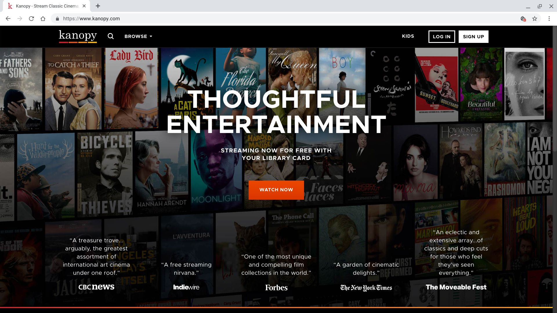 What Is the Kanopy Streaming Service?