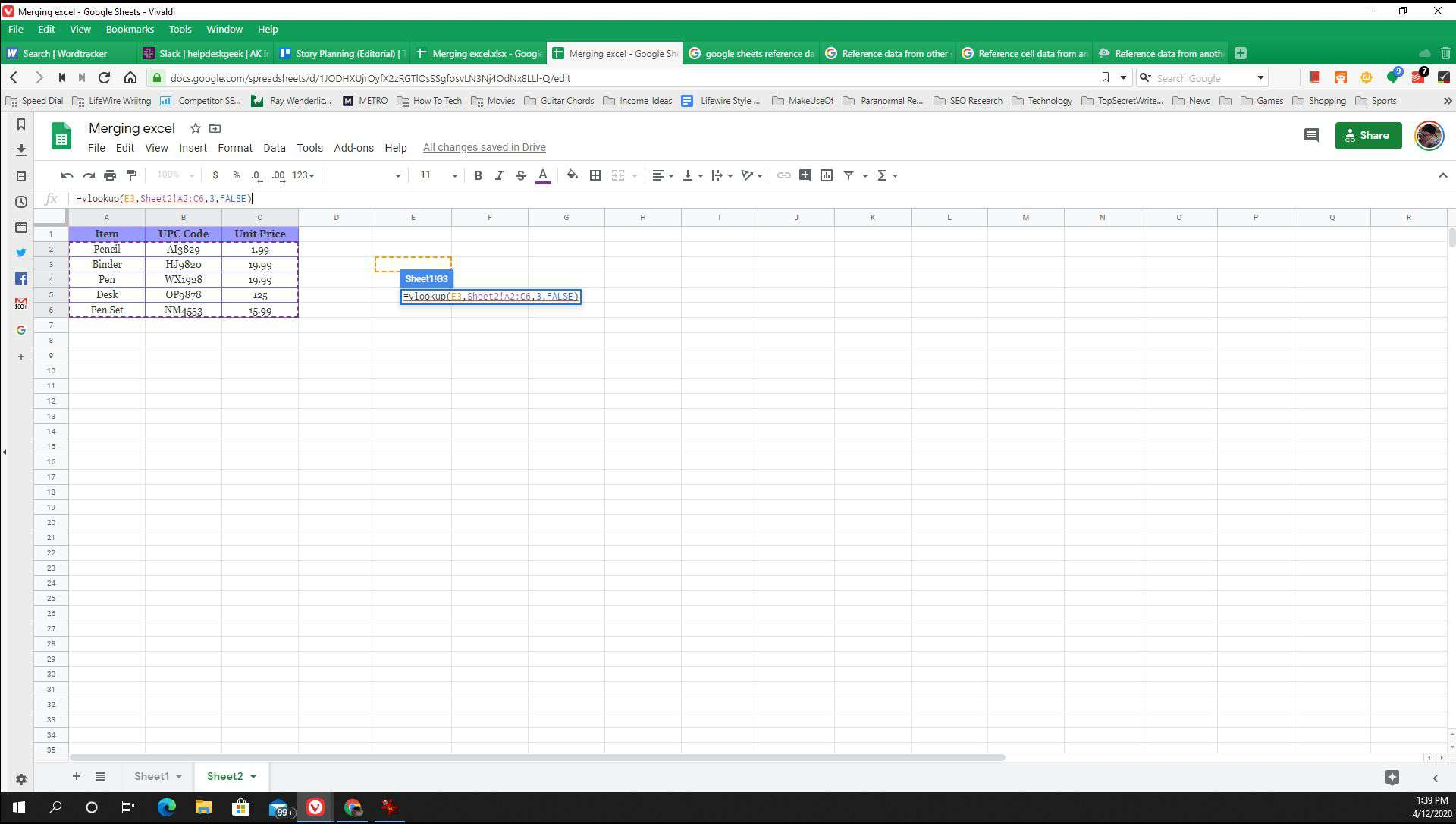 How To Use Sheets To Reference Data From Another Sheet