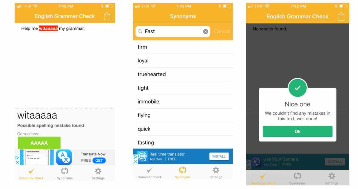 Photo of CorrectMe app on iPhone