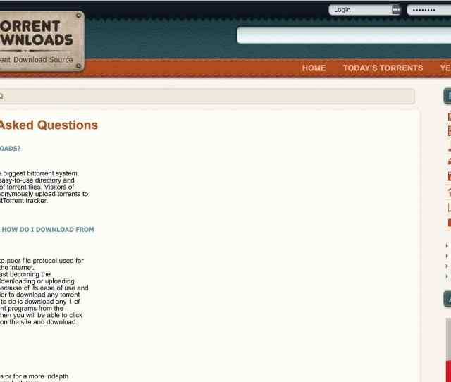 Torrent Downloads Website