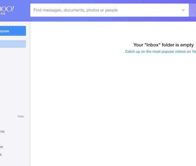 Screenshot Of New Yahoo Mail Heading
