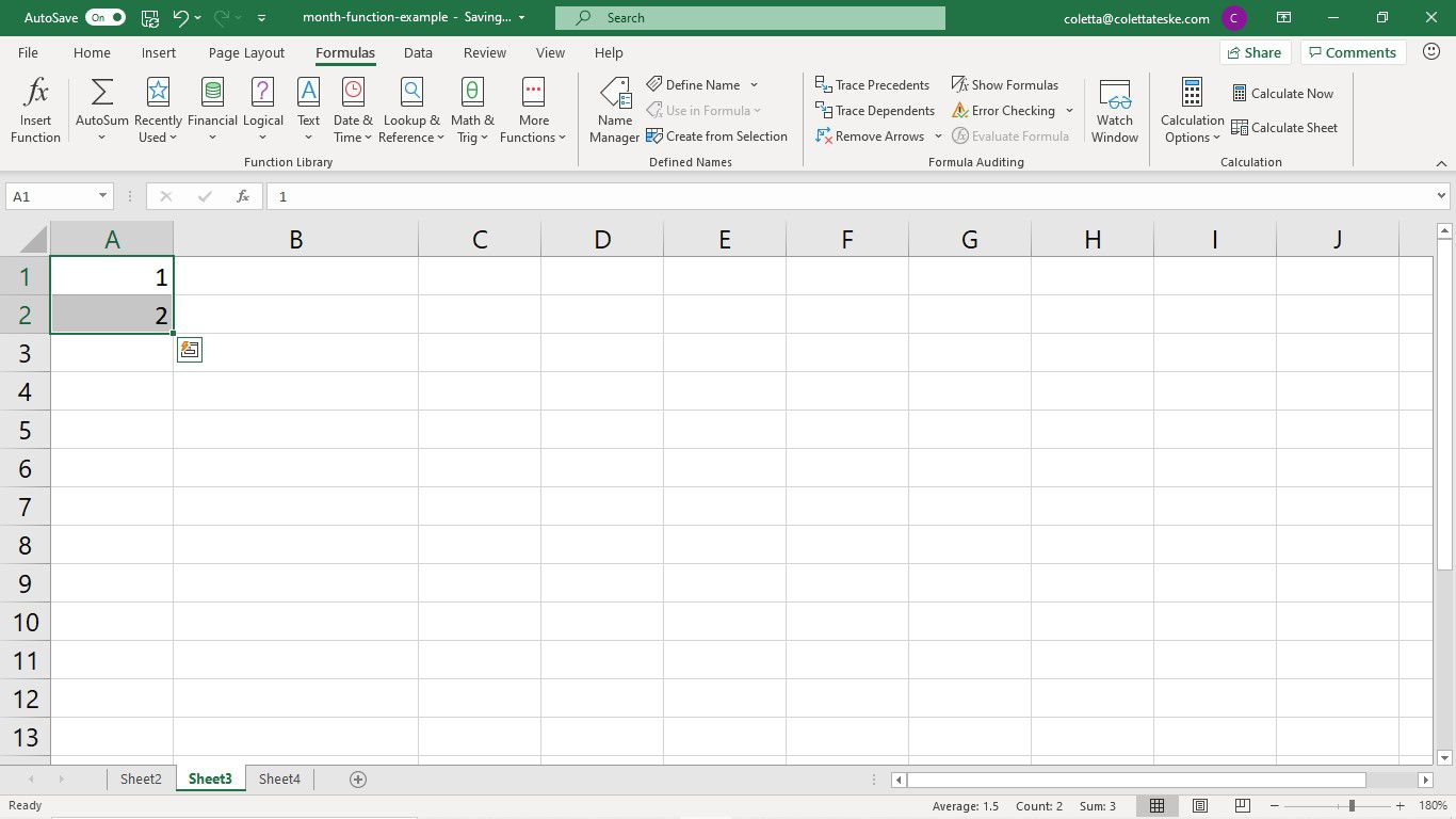 How To Use The Month Formula In Excel