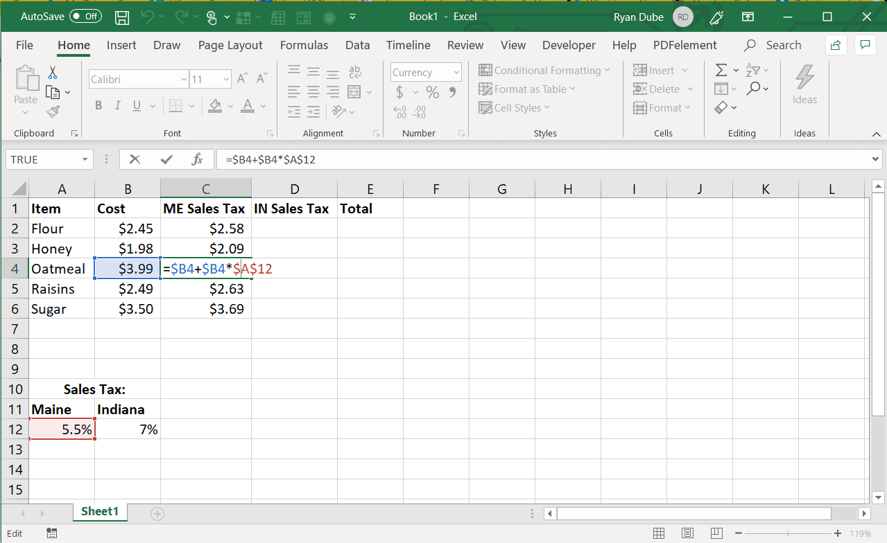How To Use Absolute Cell Reference In Excel
