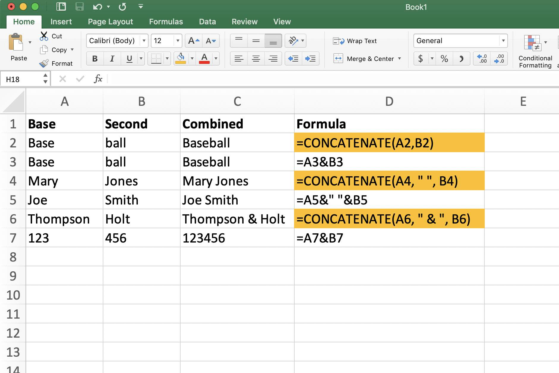 How To Use The Excel Concatenate Function To Combine Cells
