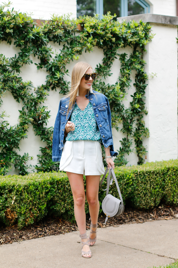 outfits with white shorts for summer
