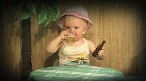 toddler drank alchohol