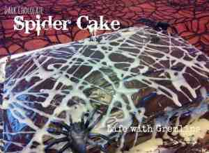 hallowen spider cake