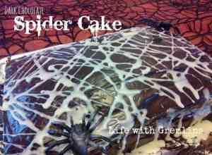 hallowen spider cake