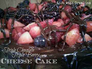 triple chocolate triple berry cheesecake recipe