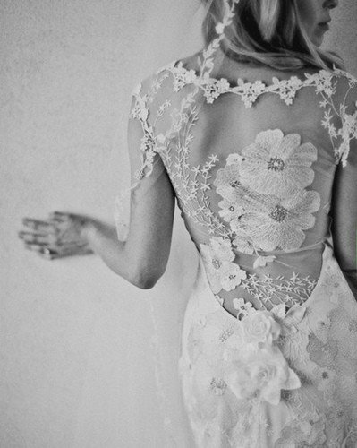 back detail wedding gown