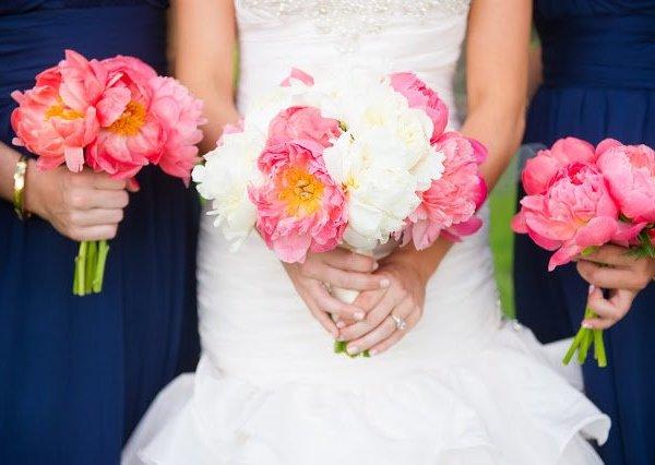coral wedding inspiration