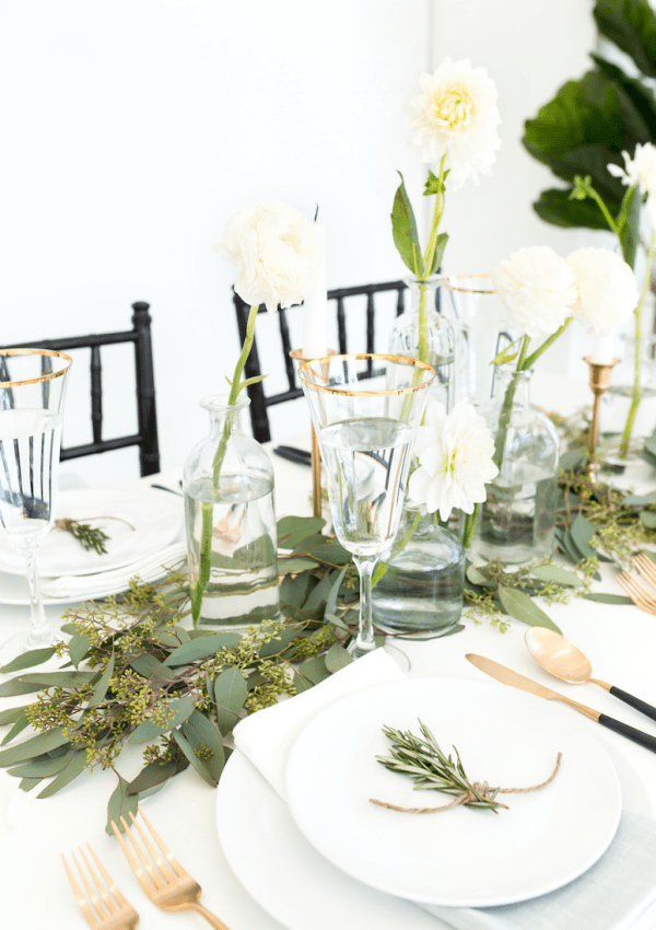 modern thanksgiving tablescape ideas minimalist decor