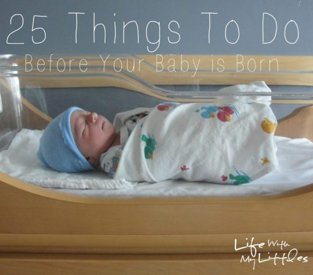 Preparing for the birth of your baby? Here are 25 things to do before your baby is born to help make the transition easier and help you feel ready! Great ideas for things to do in your third trimester!