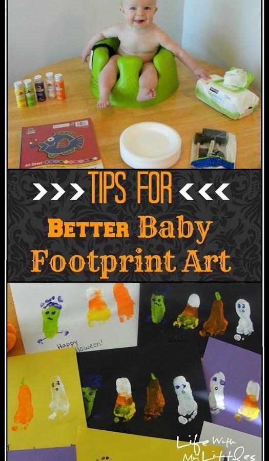 Tips for Better Baby Footprint Art