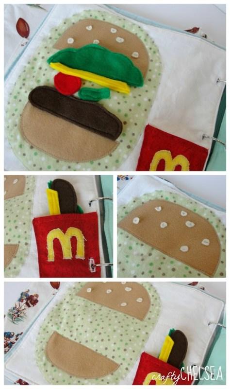 hamburger quiet book page