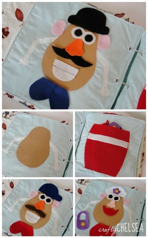 mr and mrs potato head quiet book page