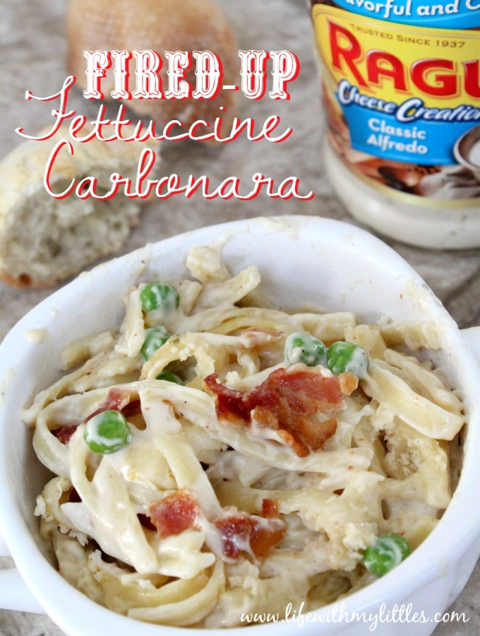 Fired-Up Fettuccine Carbonara Bake with Ragú