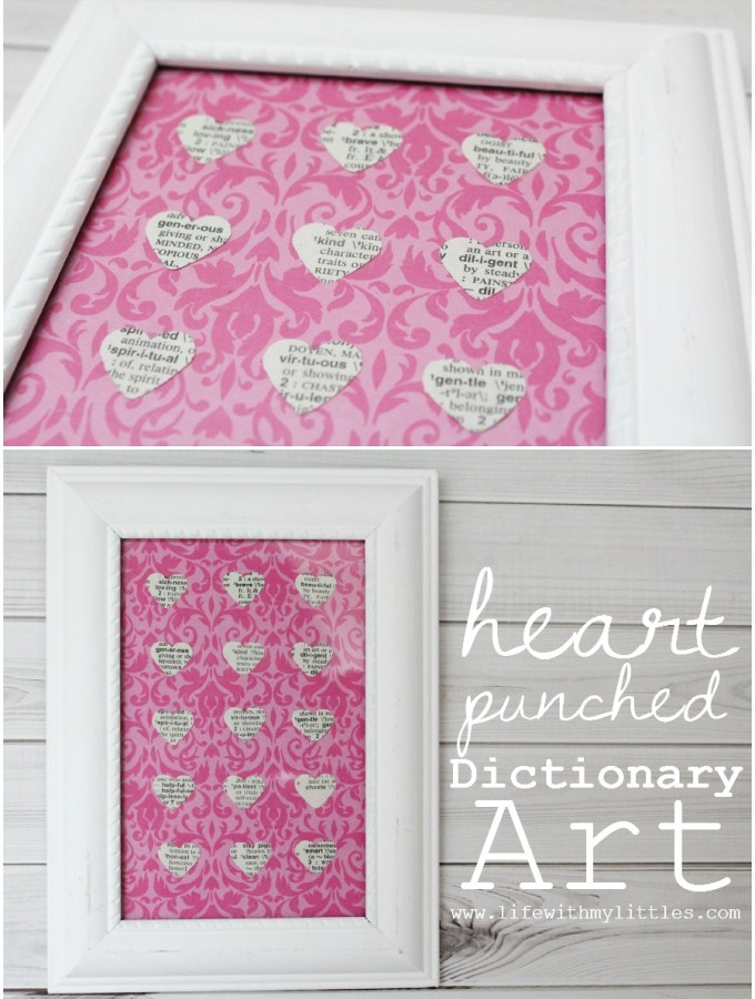 Easy Heart-Punched Dictionary Art