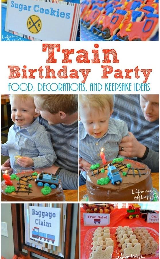 Little J's Train Birthday Party