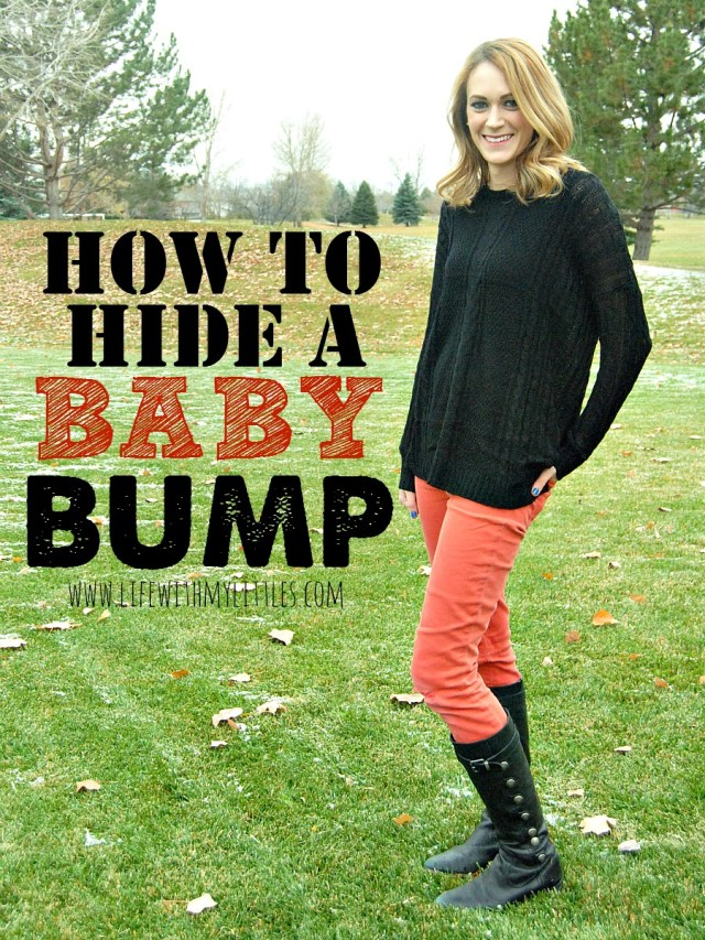 43f8fb9f How to hide a baby bump: tips on what to wear to hide your baby