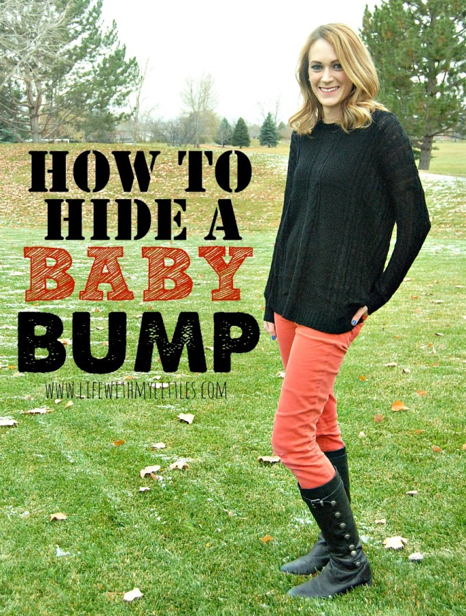 How to Hide a Baby Bump