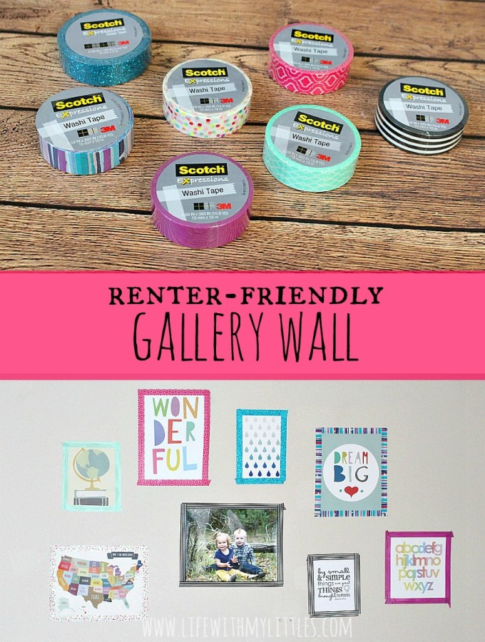 Renter-Friendly Gallery Wall