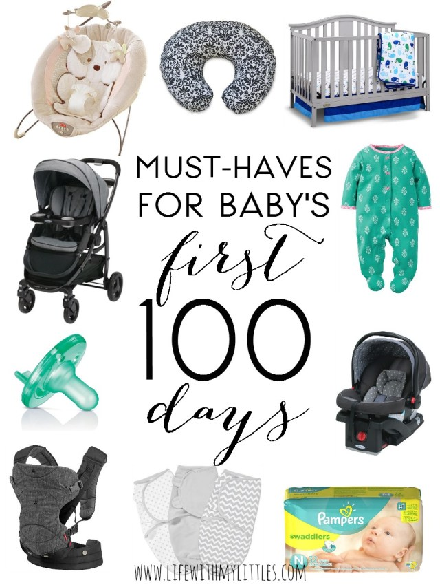 This list of must-haves for baby's first 100 days is super helpful! Everything you need and nothing you don't. If you're wondering what do newborns need, this is the post for you!