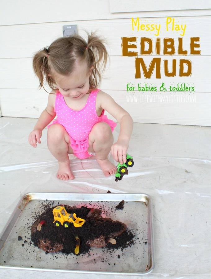 Messy Play with Edible Mud for Babies and Toddlers
