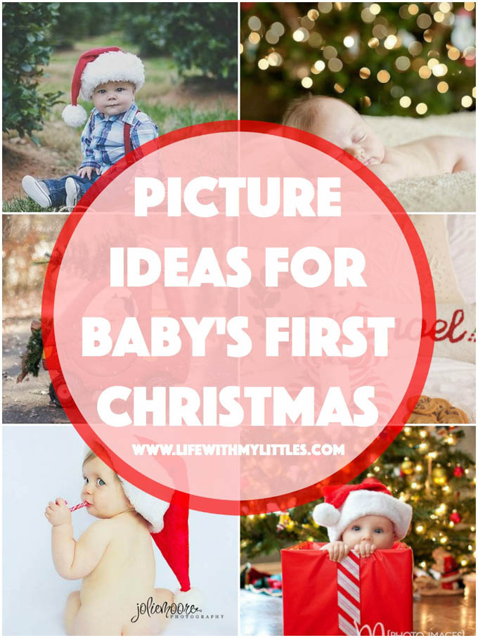 these 18 picture ideas for babys first christmas are so cute if youre