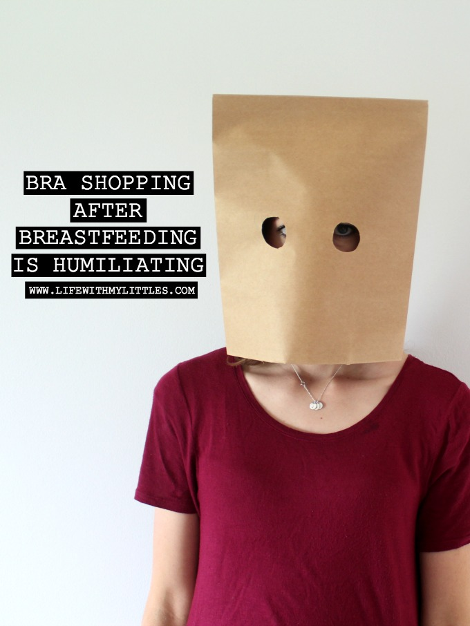 A hilarious post all about bra shopping after breastfeeding and how humiliating it can be! A great read if you've recently stopped nursing!