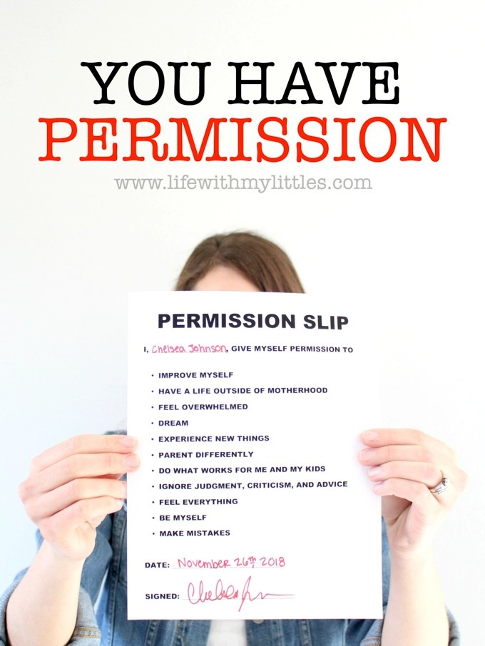 This is such a great post for all mamas to read, no matter what stage they're in! It's all about having permission to dream, to make mistakes, ignore advice, and do what works for you! You have permission!