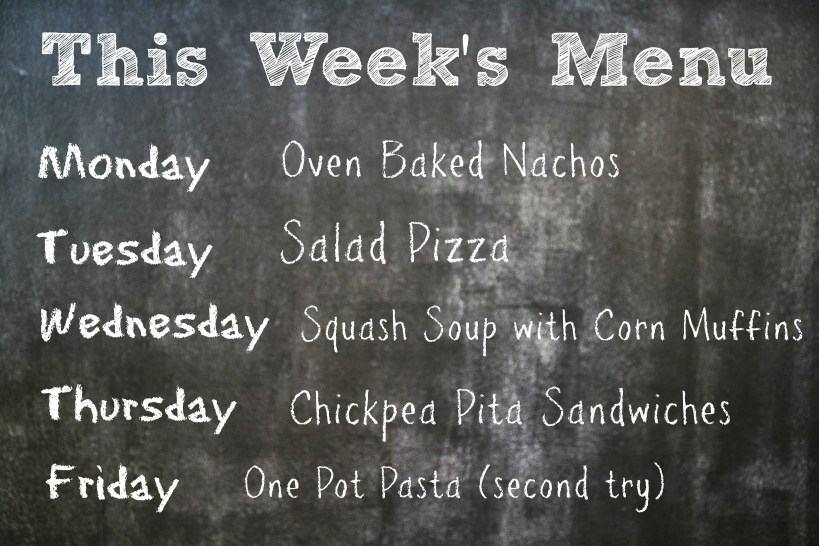 this week's menu 10.06.13