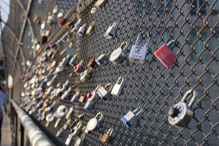 love lock wall boston