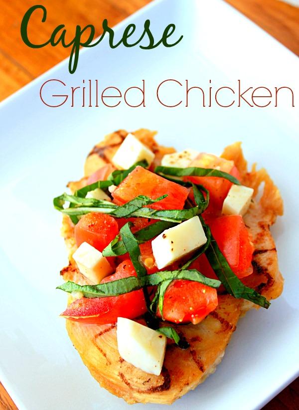 Caprese Grilled Chicken #JustAddTyson, #ad, #cbias