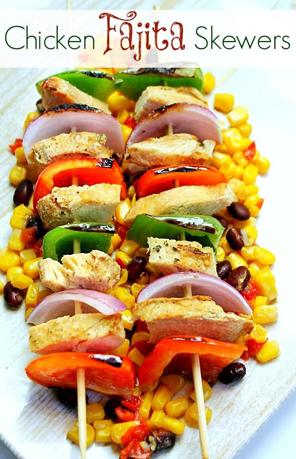 Chicken Fajita Skewers #JustAddTyson, #ad, #cbias