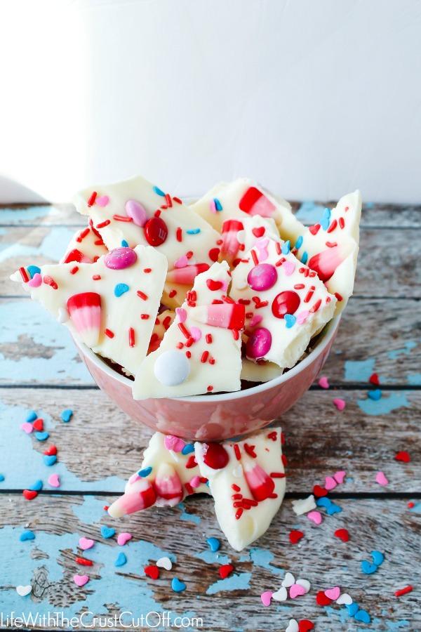 Valentines Candy Bark