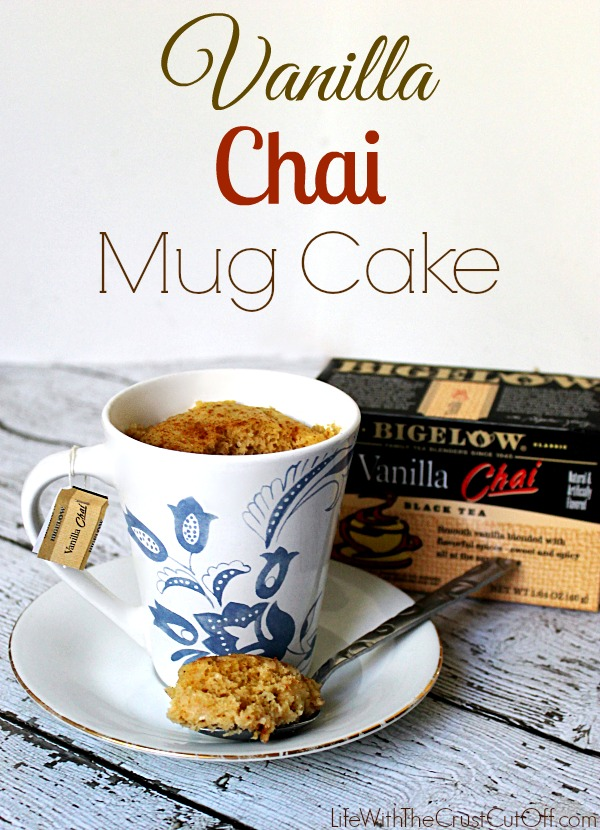Vanilla Chai Mug Cake #AmericasTea, #shop, #cbias