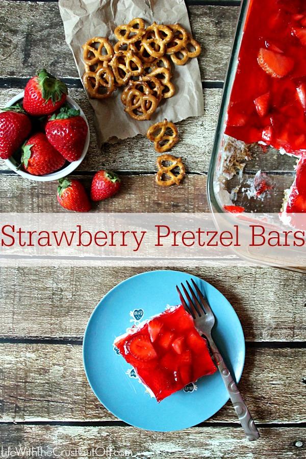 Strawberry Pretzel Bars