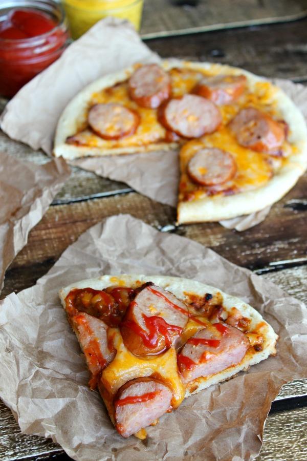 Chili Cheese Dog Pizzas #CollectiveBias