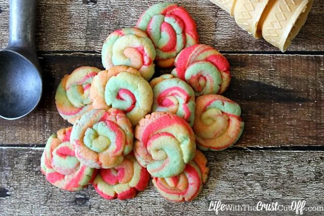 Rainbow Sherbet Cookies Pile