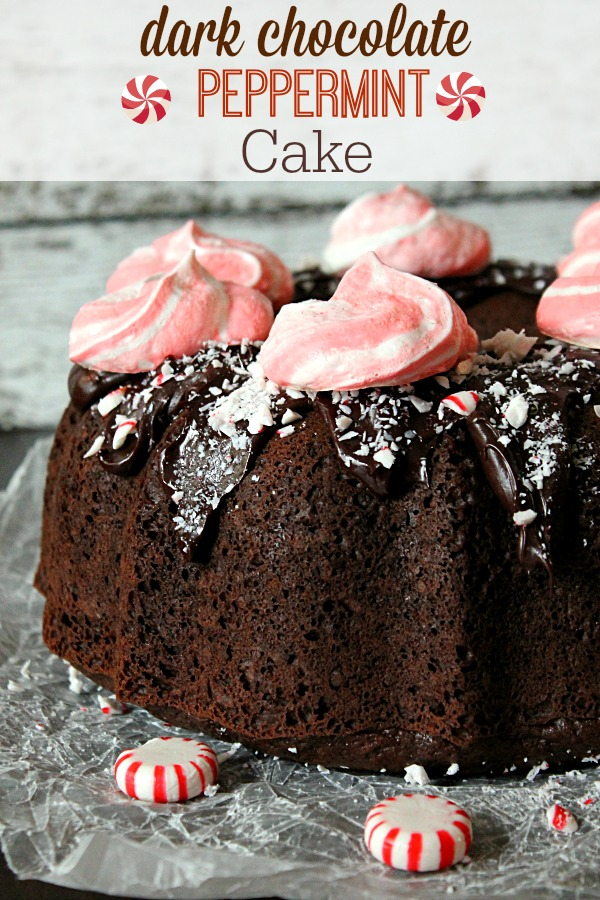 Dark Chocolate Peppermint Cake