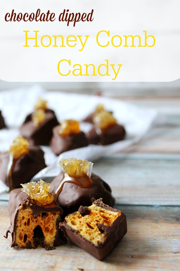 Chocolate Dipped Honey Comb Candy #HoneyForHolidays #DonVictor #CollectiveBias