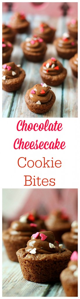 Chocolate Cheesecake Cookie Bites!  The perfect Valentine treat!