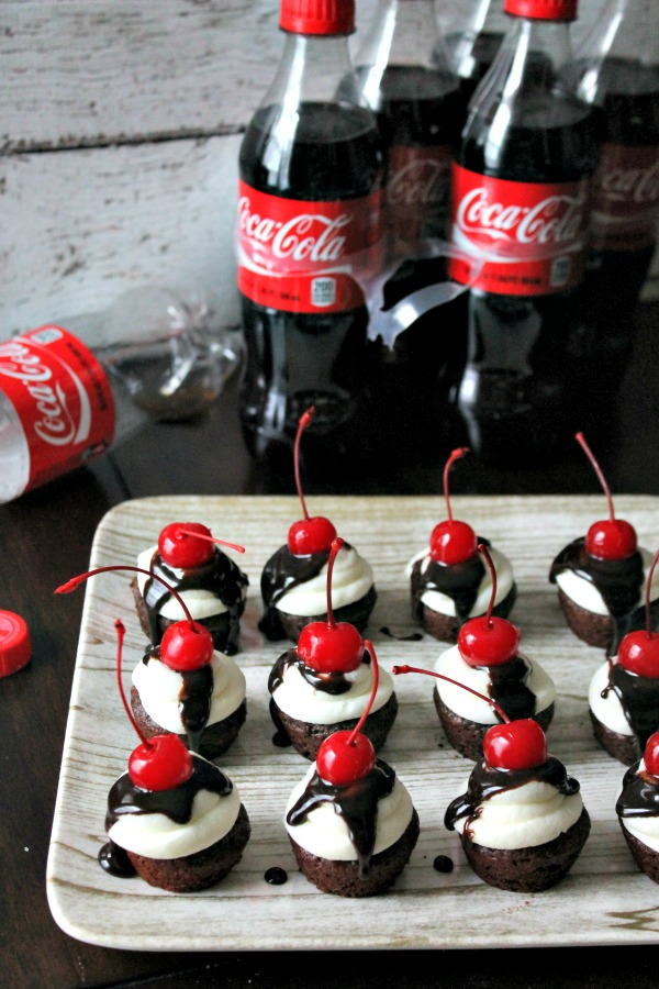 Chocolate Coke Cupcake Bites #PreparetoParty #CollectiveBias