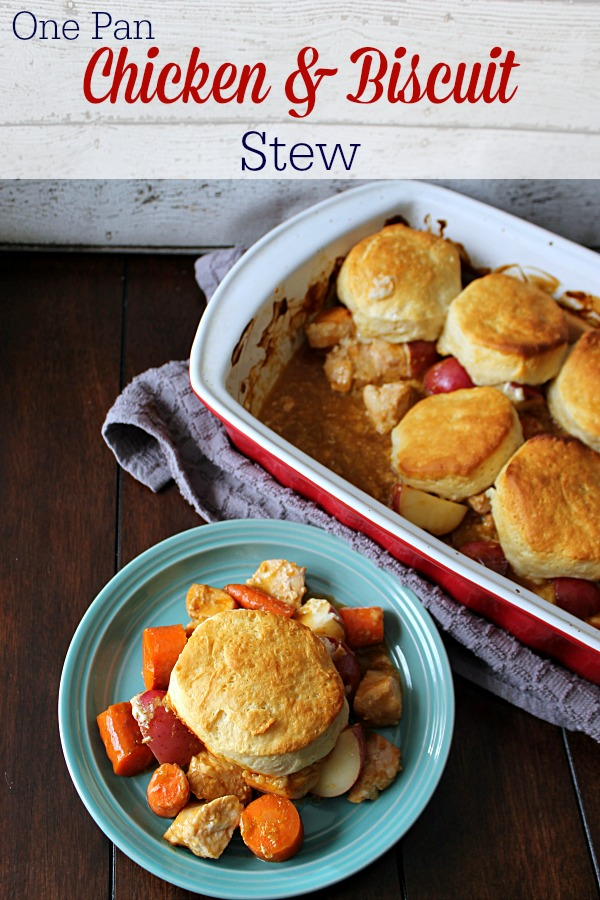 One Pan Chicken & Biscuit Stew Yum!