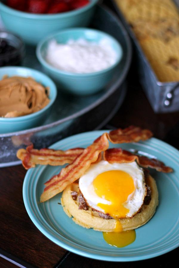 Runny Egg Waffle #EggoWaffleBar #CollectiveBias